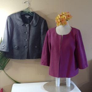 TWO career jackets blazers Ann Taylor & Relativity